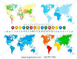 World Maps Collection Vector Photo Free Trial Bigstock