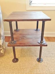 style steel pipe handmade side table for on blackironfurniture end table