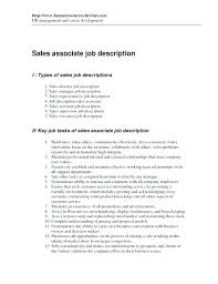 Sales Associate Job Description Resume Fascinating Resume Of Sales Associate Sales Associate Resume Of Retail Related