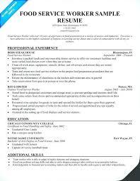 Sample Resume For Fast Food Restaurant Fast Food Resume Science