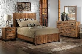 maya piece queen bedroom set  rustic pine  leon's