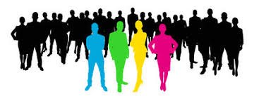 Team Leaders Team Leaders With Employees Stock Illustration