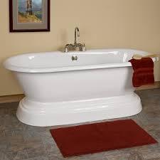 aiden cast iron doubleended pedestal tub  bathroom