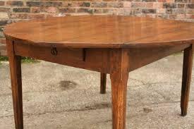 oak round drop leaf table