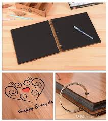 10 2 X 10 2 Inch Diy Scrapbook Photo Album With Cover 30 Sheets Black Craft Paper For Guest Book Anniversary Valentines Day Gifts