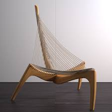 scandinavian design furniture ideas wooden chair. 3D Max Harp Chair - Model Scandinavian Design Furniture Ideas Wooden