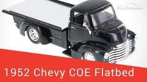 1952 Chevy Coe Flatbed, Black w/ Chrome - JADA Toys 1/24 Scale ...