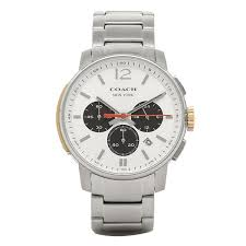 brand shop axes rakuten global market coach watches men x27 s coach watches men s coach 14601527 breecer bleecker watch watch white silver