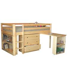 junior twin low loft bed natural is the ideal bed for your child lower than a regular loft bed it combines space efficient design and attractive look