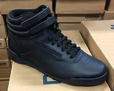 reebok high tops. reebok f/s freestyle j93532 jr black womens big girls hi top shoes size 4 high tops