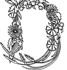 Small Picture Alphabet Flowers Letter D Coloring Pages Batch Coloring
