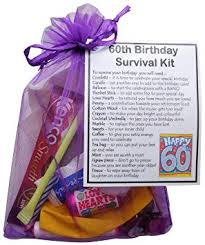 smile gifts uk 60th birthday gift unique novelty survival kit 60th birthday for her