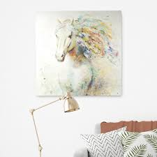 colorful horse i by anastasia c original painting on wrapped canvas