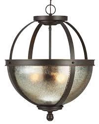 sfera mercury large inverted bowl pendant