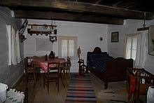 Typical interior of one of the houses in the Folk Architecture Reservation  in Vlkolnec (Slovakia)