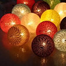 Fairy Lights Daraz Ball 10 Cotton Balls Led String Lights Battery Dia 6cm Garland Cotton Ball Light Chain Christmas Lights
