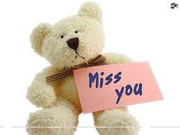 teddy bear with miss you note
