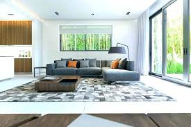 how to place a rug under a sectional sofa sectional sofa grey linen area rug with