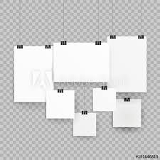 Paper Picture Frame Templates Frames Or Poster Templates Isolated On Transparent Background