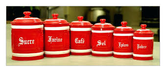 alternative views red kitchen canisters glass set