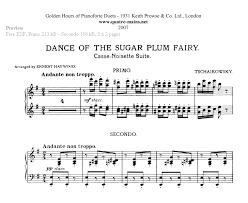 dance of the sugar plum fairy sheet music piano four hands sheet music free classical piano music