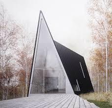 Possibly the most gorgeous modern minimalist A-frame ever, designed by  William O'Brien Jr., via Trendir.