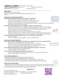 Sports Management Resume Samples Sports And Coaching Resume Sample