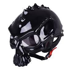 punk skull motorcycle helmet half harley helmet monster moto