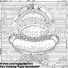 Hotdog Coloring Page 1858 Ultimate Coloring Pages おとなの