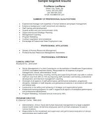 Targeted Resume Template Example Of Targeted Resume Top