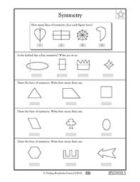 3rd Grade 4th Grade Math Worksheets Lines Of Symmetry