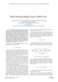 Lna Design Using Ads Tutorial Pdf Multi Standard Highly Linear Cmos Lna