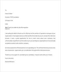 reject letter template job offer rejection letter template professional addition view