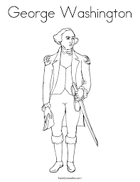Small Picture George Washington Coloring Page Twisty Noodle
