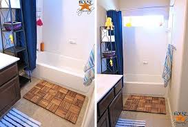 view in gallery wooden spa bath mat