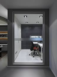 combined office interiors. Awesome Office Interior For The Modern Company: Fantastic Design With Glass Wall Decor Ideas Combined Finishing . Interiors O
