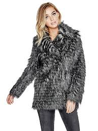 anna faux fur jacket guess uk guess jobs newest collection guess clothing