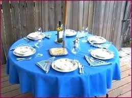 fitted vinyl tablecloth with umbrella hole patio within 60 round outdoor umbrell