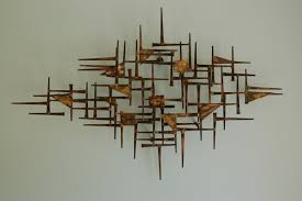 mid century wall art metal