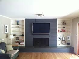 Gray Brick Fireplace Gray Painted Brick Fireplace