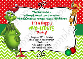 Images Of Christmas Invitations Grinch Christmas Party Invitation Free Grinchmas Card