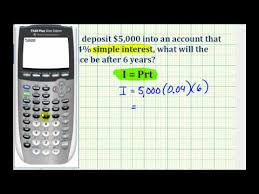 Ex Determine An Account Balance Using Simple Interest Youtube