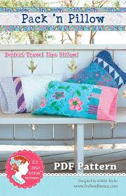 Pillow Sewing Patterns Awesome Pack 'n Pillow Downloadable PDF Sewing Pattern It's Sew Emma Fat