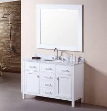 single sink bathroom vanities.  Bathroom Adorna 48 Inch Single Sink Bathroom Vanity Set Carrera White Top With  Regard To Vanities Plan 3 On Y