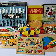 Vintage Wooden Board Games Vintage Children's Wooden Puzzles Board Games EBTH 50