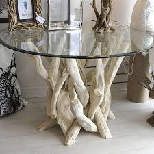 tree trunk glass dining table tables