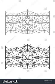 Balcony Fence forged balcony fence stock vector 475419556 shutterstock 3801 by xevi.us