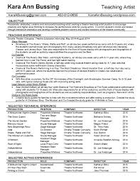 Bussing Teaching Artist Resume 1