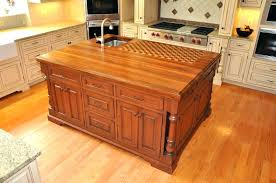 built in cutting board countertop the trendy look of butcher block built in cutting board glass into