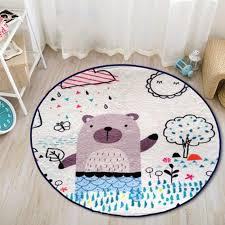Großhandel 6080 Cm Fußball Cartoon Print Runden Teppich Wohnzimmer